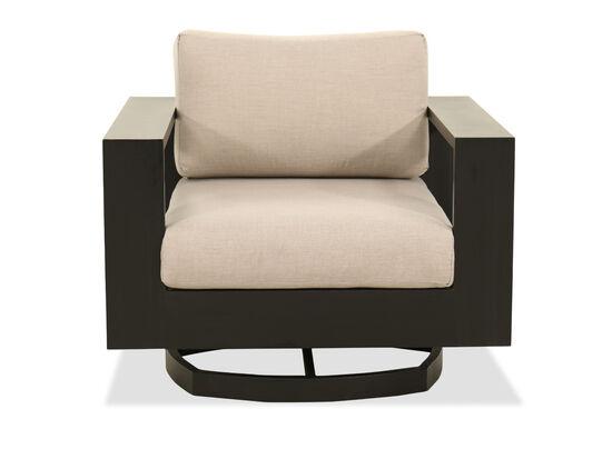 Modern Aluminum Swivel Chair in Black