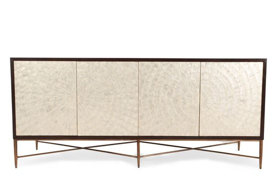 "82"" Capiz Shell Inlay Buffet in Dark Espresso"
