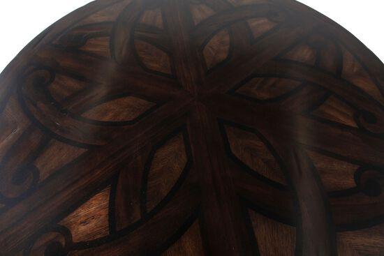 """Traditional 54"""" Round Pedestal Dining Table in Oak"""