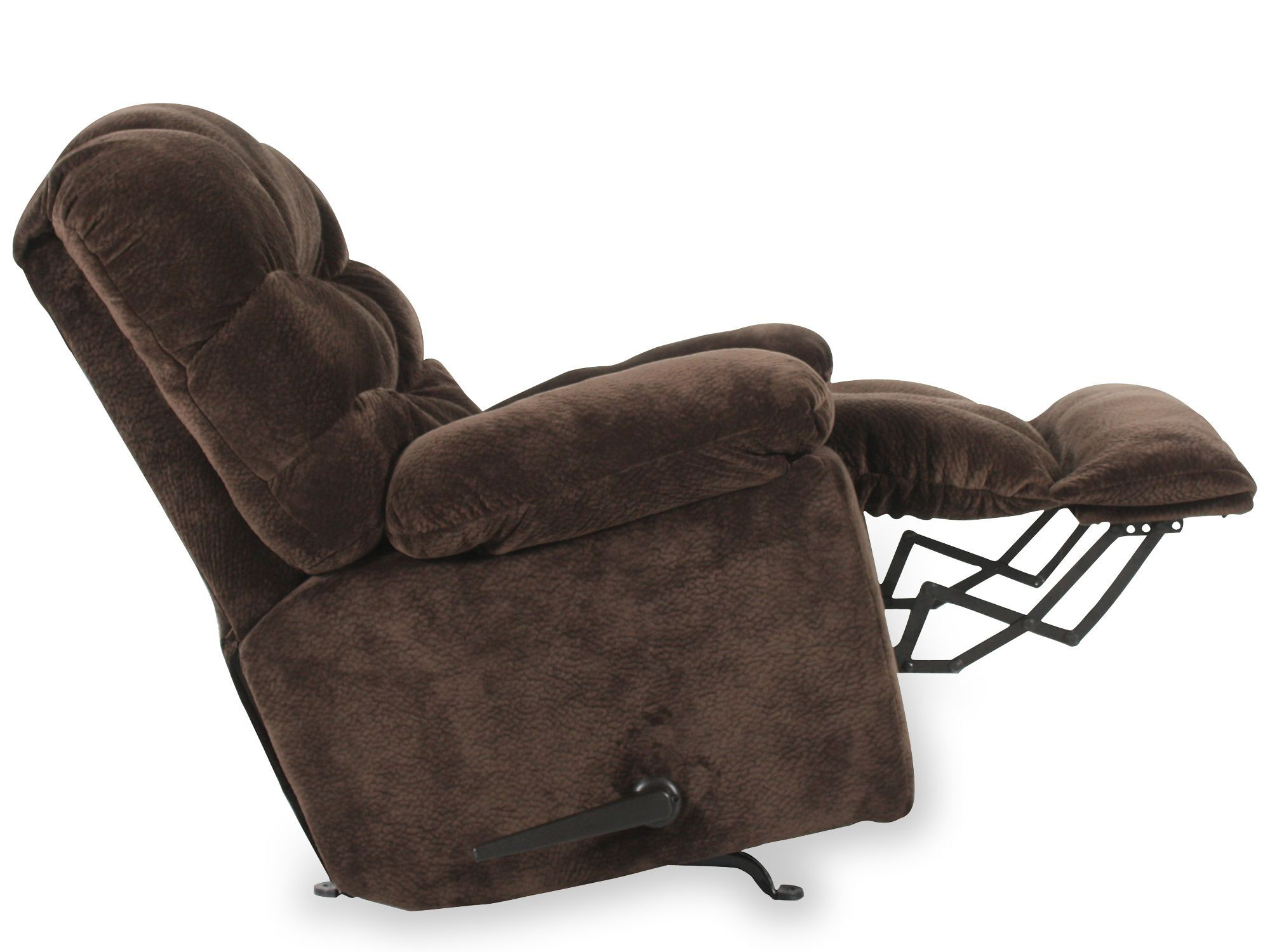 Casual 43u0026quot; Wall Saver Recliner With Storage Arm In Chocolate
