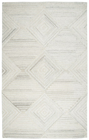Transitional Hand-Tufted 5'  x  8' Rectangle Rug in Ivory