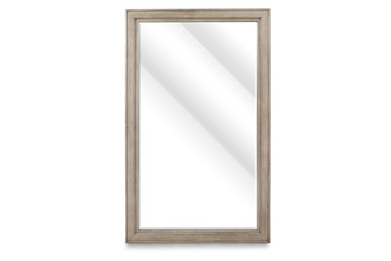 "76"" Casual Floor Standing Accent Mirror in White"