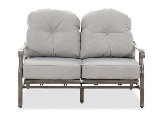 High-Back Casual Patio Loveseat in Gray