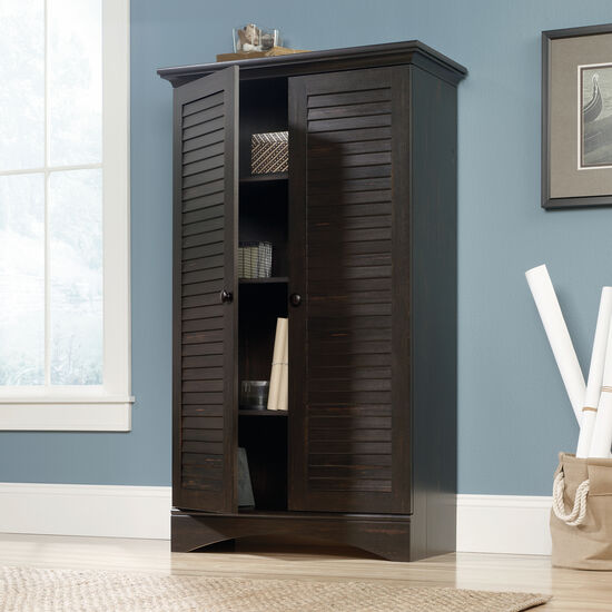 Two-Door Traditional Storage Cabinet in Antiqued Paint