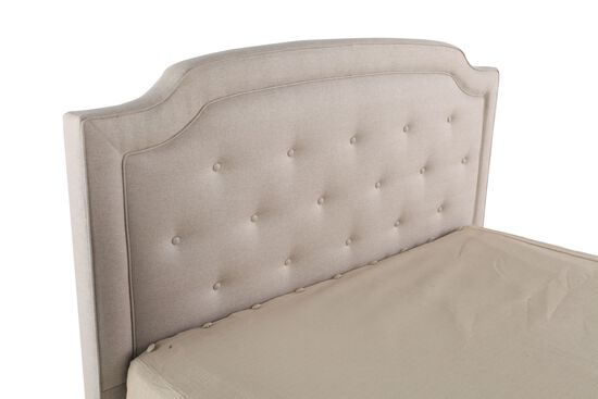 "Transitional Tufted 55"" Queen Headboard in White"