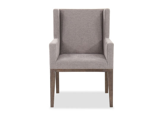 """Casual 38"""" Arm Chair in Charcoal/Dove Gray"""
