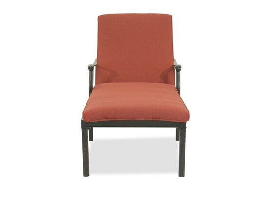 All-Weather Aluminum Patio Chaise Lounger in Orange