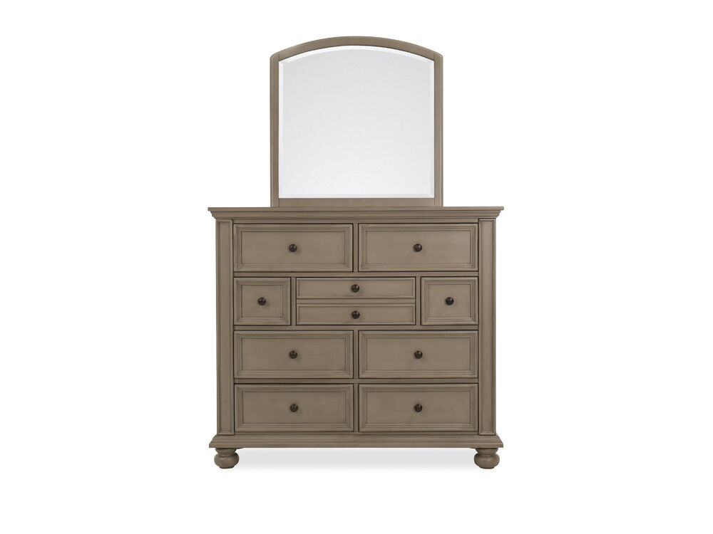 Casual Curved Youth Mirror in Gray