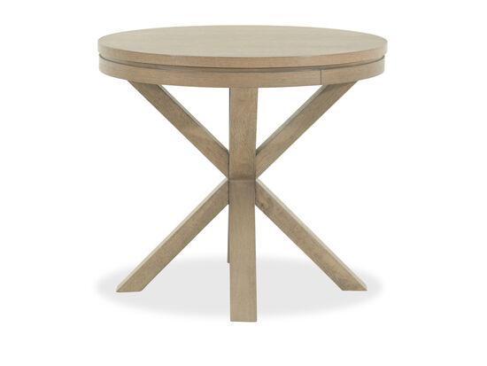 Round Modern Lamp Tablein Brown
