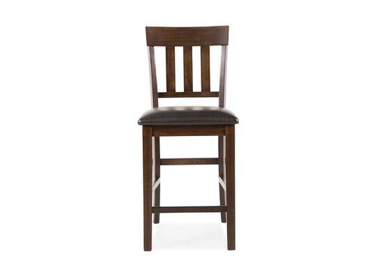 "Traditional 41"" Pair of Bar Stool in Dark Brown"