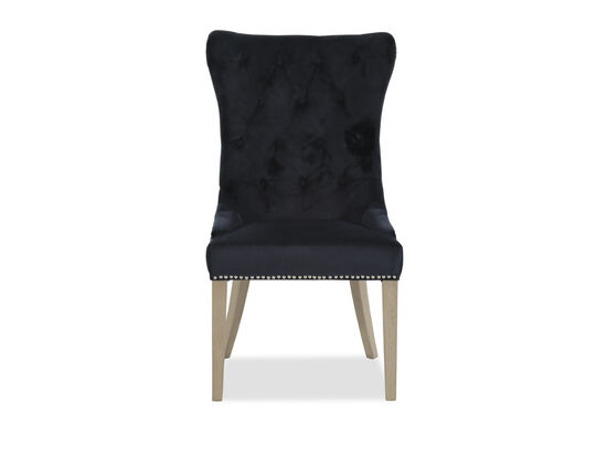 "Naihead Trim 23"" Tufted Dining Chair in Blue"