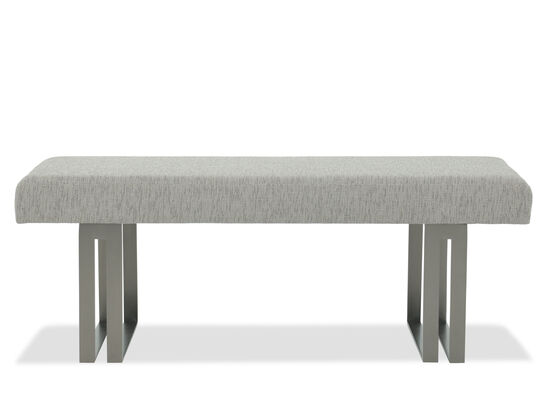 "Contemporary 52"" Bench in Beige"