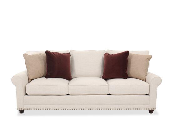 Transitional Nailhead Trim Sofa in Ivory