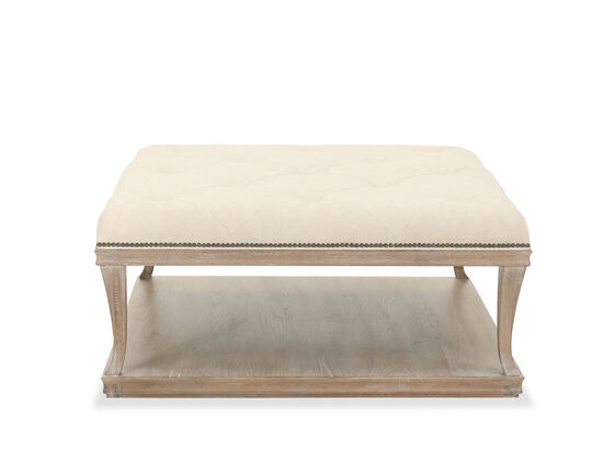 Traditional Nailhead-Accented Cocktail Table in Brown