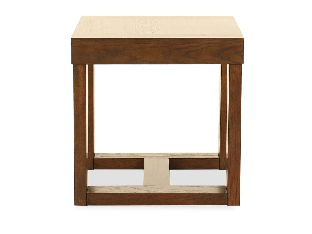 Square Contemporary End Tablein Dark Merlot