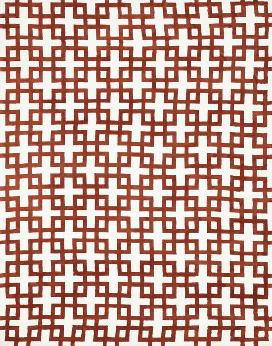 """Transitional 2'-3""""x3'-9"""" Rug in Ivory/Rust"""