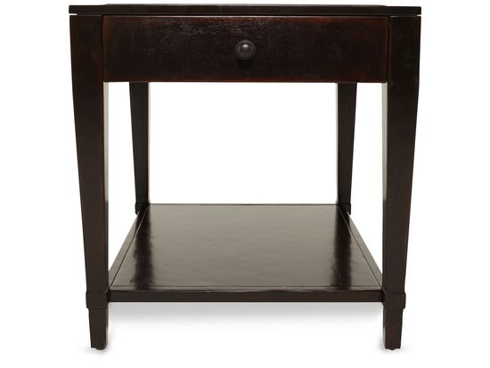 Square Traditional End Table in Waxed Molasses
