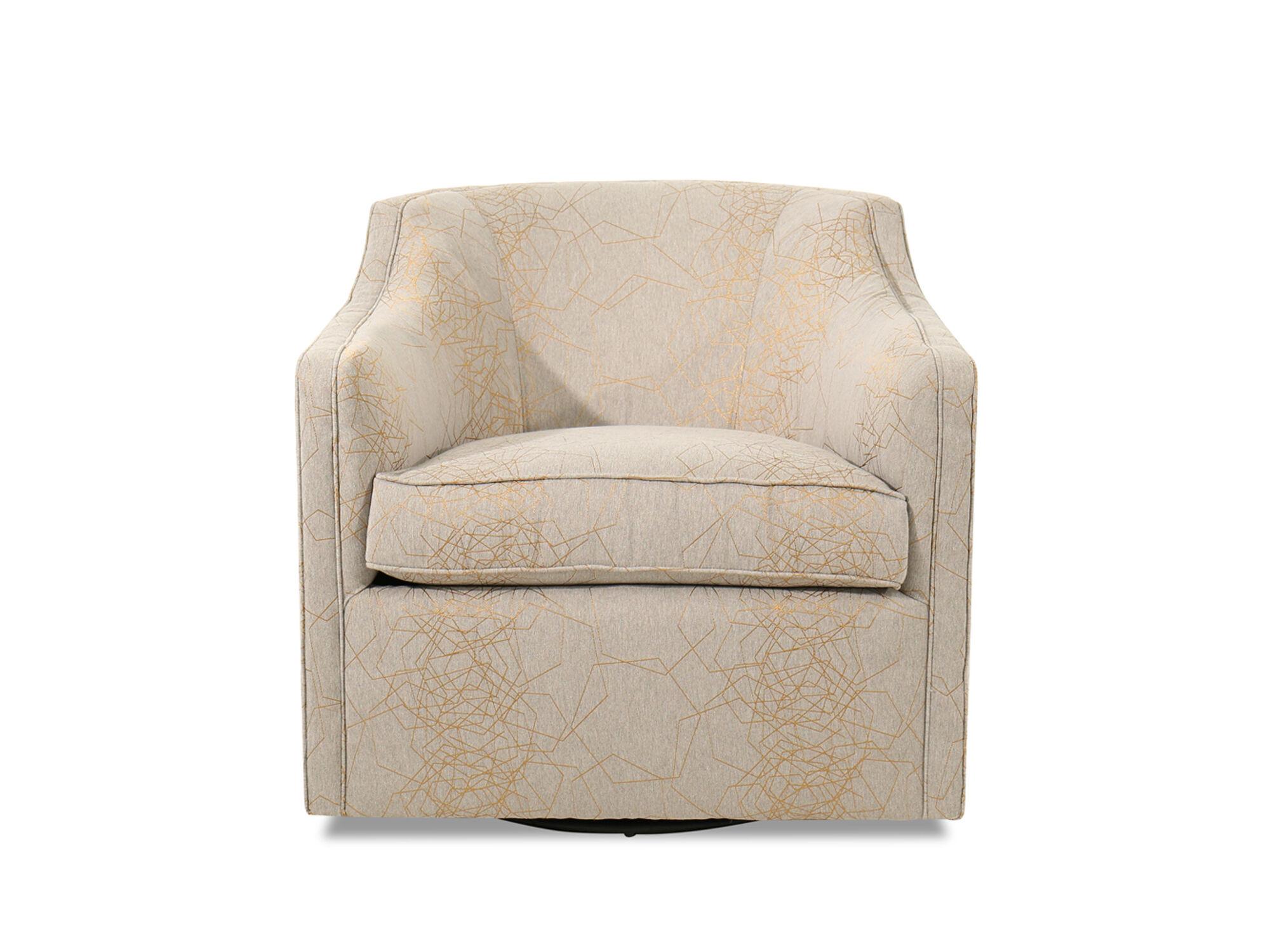 Barrel Back Contemporary 34u0026quot; Swivel Chair ...