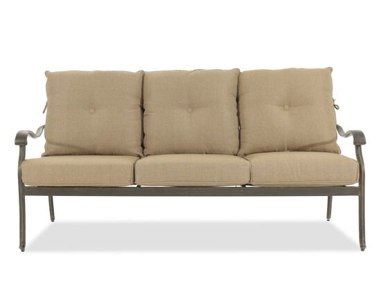 Button-Tufted Casual Sofa in Beige