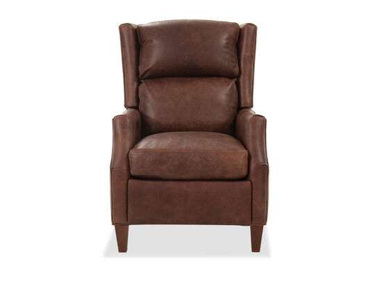 "Leather 30"" Power Recliner in Brown"