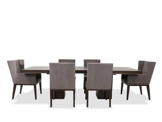 Seven-Piece Casual Table and Chairs Set in Charcoal/Dove Gray