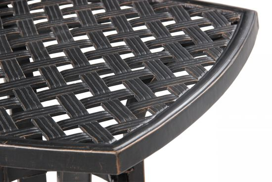 Transitional Aluminum Square End Tablein Brown