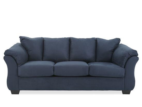 """Contemporary 89"""" Sofa in Blue"""