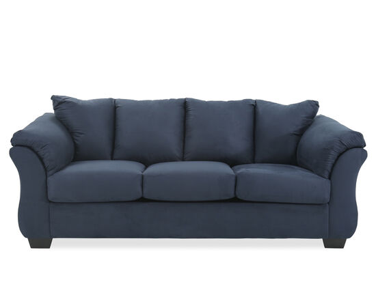 "Contemporary 89"" Sofa in Blue"