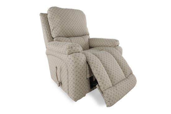 "Contemporary 37.5"" Recliner in Cocoa Brown"
