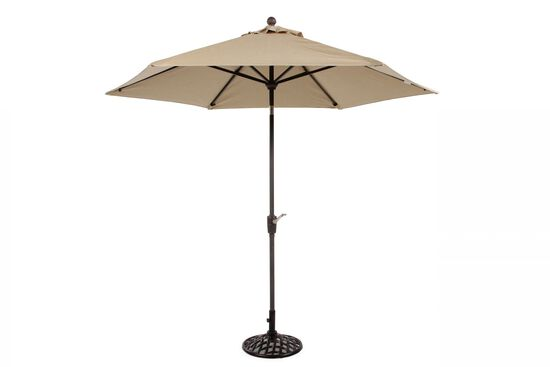 Casual Open Lattice Base Umbrella in Beige