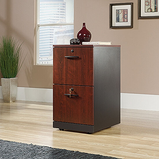Two-Drawer Contemporary Pedestal File in Classic Cherry
