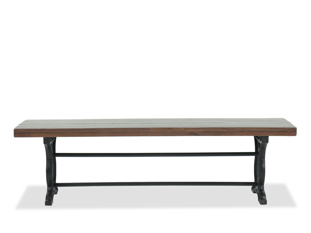 Images Casual 66quot Solid Acacia Bench