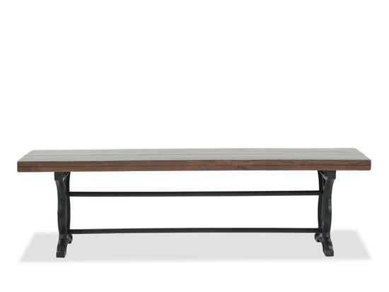 "Casual 66"" Solid Acacia Bench in Brown"