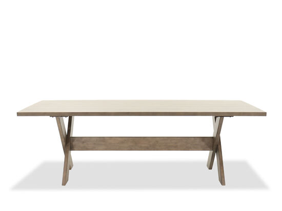 """40"""" Transitional Rectangular Trestle Table in Brown"""