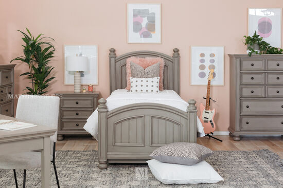 Casual Five-Drawer Youth Chest in Khaki Gray