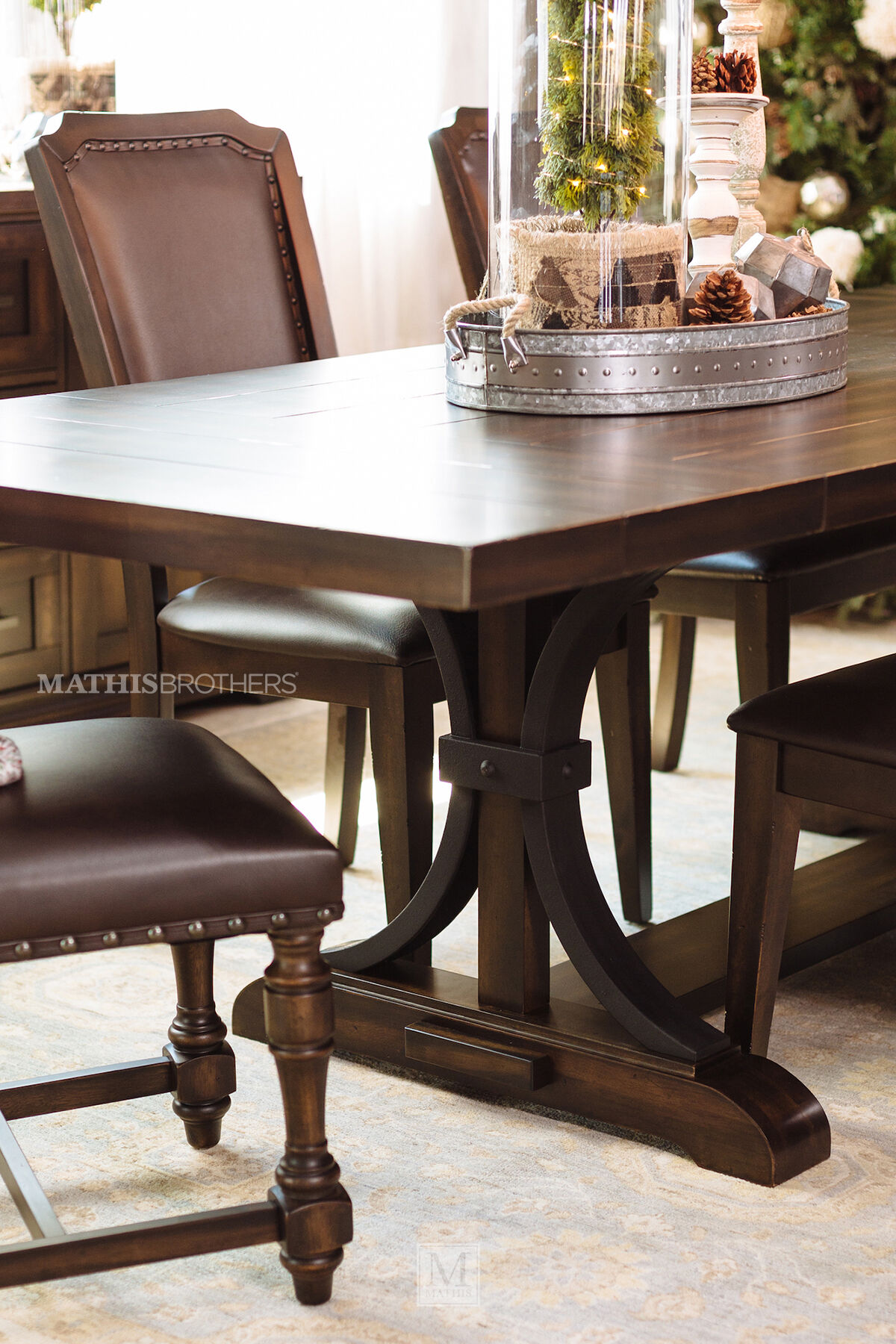 Dark dining room furniture Dark Wood Casual 102 Mathis Brothers Casual 102
