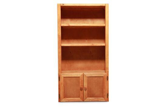 Three-Shelf Traditional Bookcasein Cinnamon