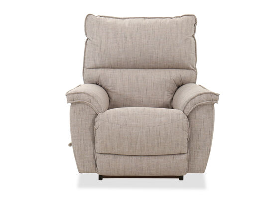 Contemporary Rocker Recliner in Linen