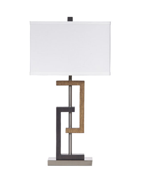 Contemporary Geometric-Accent Table Lamp