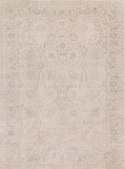 "Traditional 2'-7""x4' Rug in Natural/Natural"