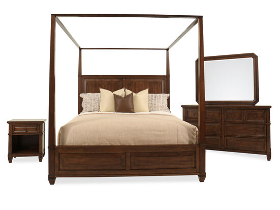 Four-Piece Transitional King Suite in Sienna