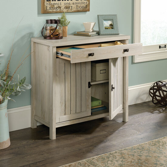 30'' Two-Door Contemporary Library Base in Chalked Chestnut