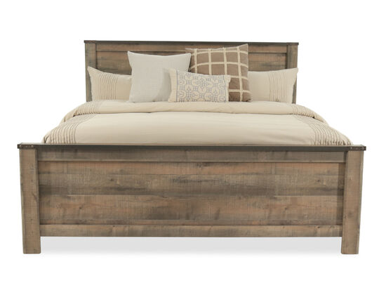"fbf2e82e729116 54"" Rustic Farmhouse Plank King Panel Bed ..."