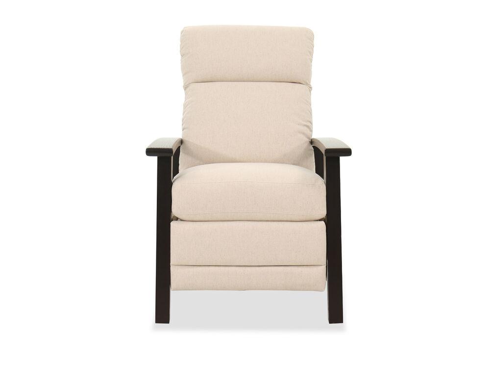 """29"""" Mid-Century Modern Pressback Reclining Chair in Beige"""