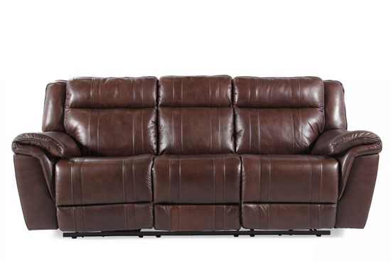 "Contemporary 89"" Power Reclining Sofa in Brown"