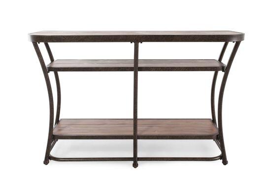 Two-Shelf Casual Sofa Table in Rustic Pine