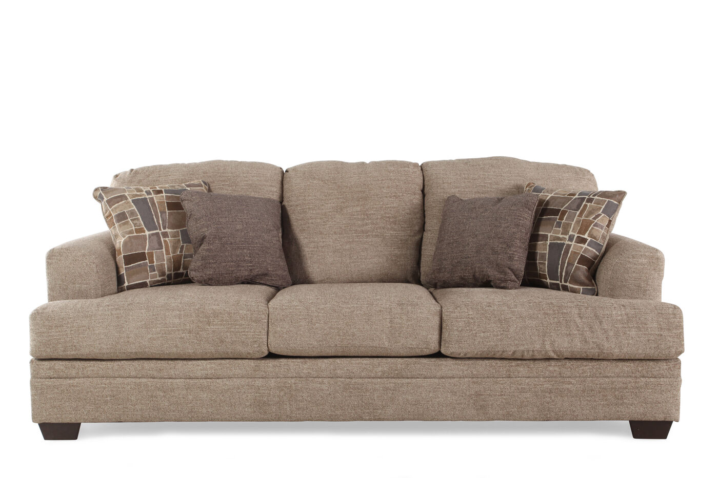 Chenille contemporary 91 sofa in sisal mathis brothers for What does contemporary furniture mean