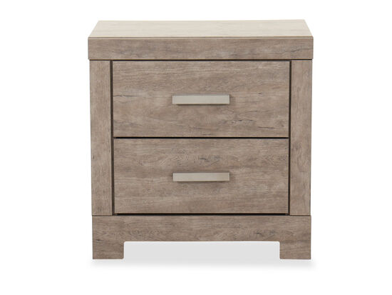 "24"" Casual Two-Drawer Nightstand in Weathered Driftwood"