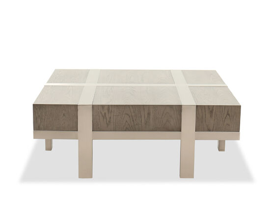 Rectangular Contemporary Cocktail Table in Gray