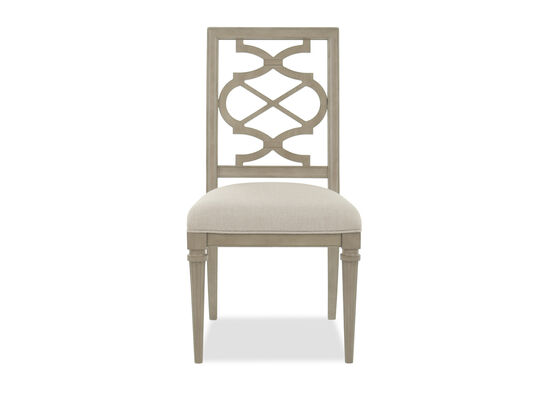 Lattice Back 39'' Side Chair in Gray